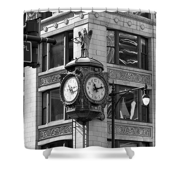 Clock On Jewelers Building - Chicago Shower Curtain