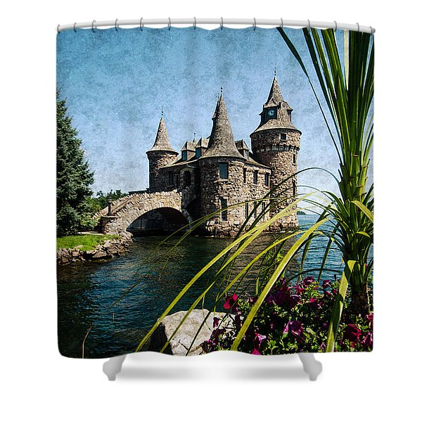 Boldt Castle Power House And Clock Tower Shower Curtain