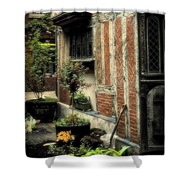 Cloister Garden - Cirencester, England Shower Curtain