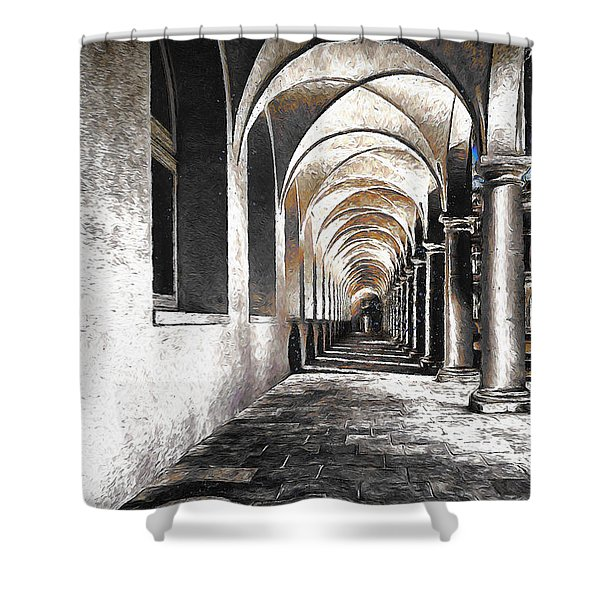 Cloister Xxxx Shower Curtain