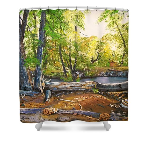 Close To God's Nature Shower Curtain