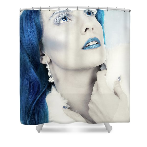 Close Up Of The Snow Queen Shower Curtain