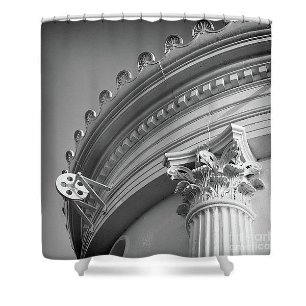 Closeup Of Lighthouse  -58750 Shower Curtain