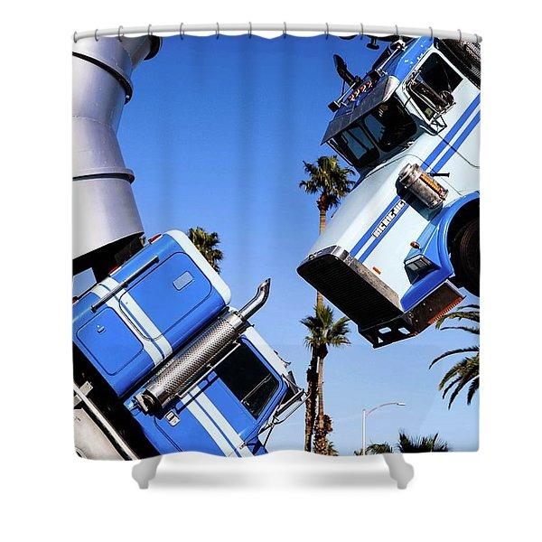 Closeup On Big Rig Jig Shower Curtain