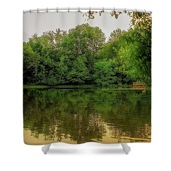 Shower Curtain featuring the photograph Closter Nature Center by Jody Lane