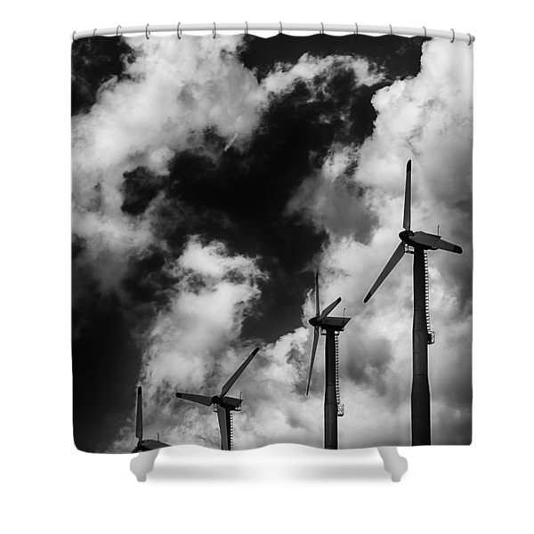 Cloud Blowers Shower Curtain