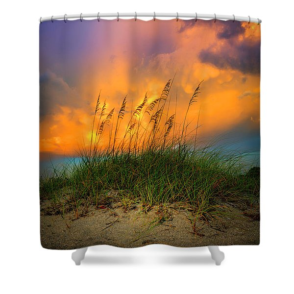 Cloud Colors Shower Curtain