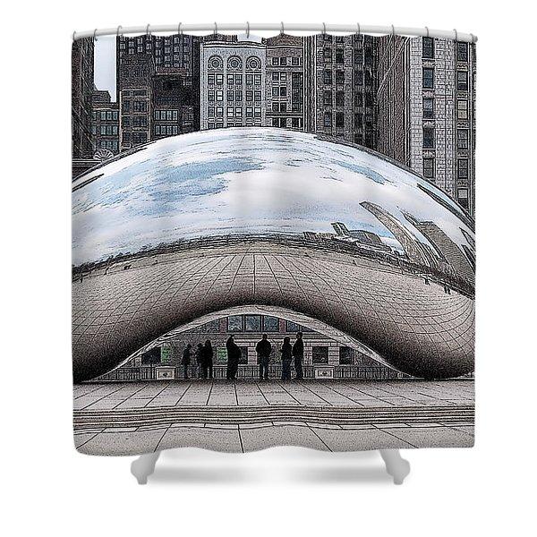 Cloud Gate Shower Curtain