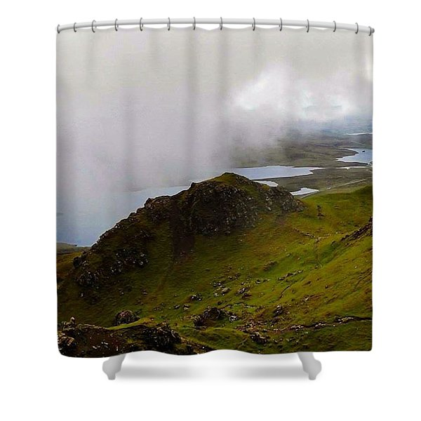 Cloud Lying Low On The Hills Of Skye - Shower Curtain