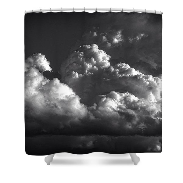 Cloud Power Over The Lake Shower Curtain