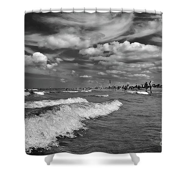 Shower Curtain featuring the photograph Cloud Sound Drama by Silva Wischeropp