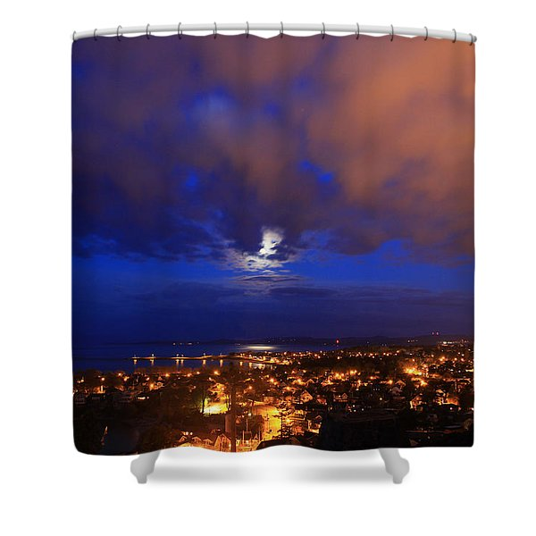 Clouded Eclipse Shower Curtain
