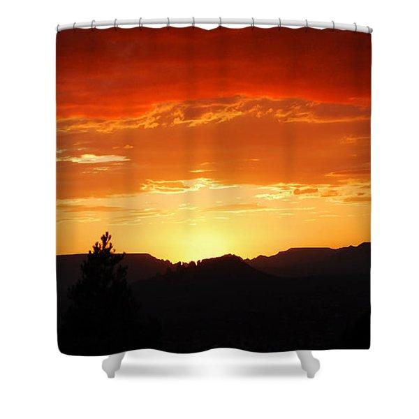 Clouds Afire Shower Curtain