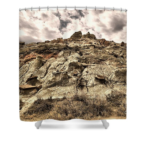 Clouds And Badlands Shower Curtain