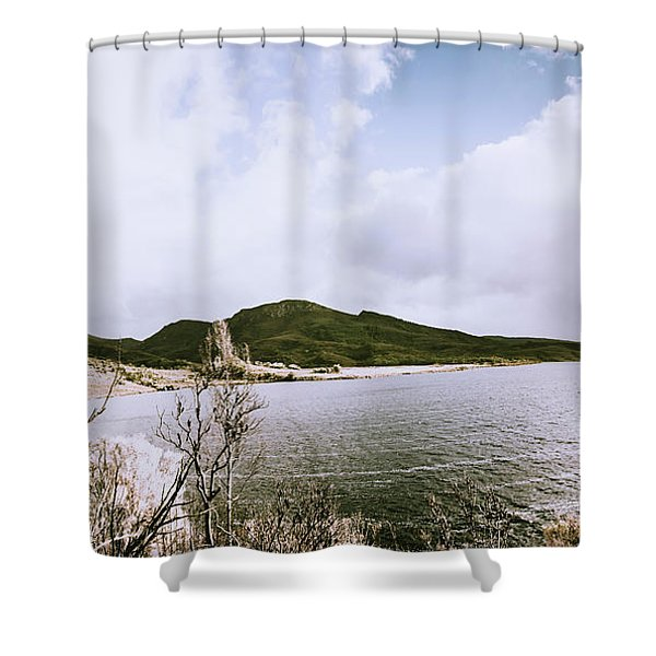 Clouds And Calm Waters Shower Curtain