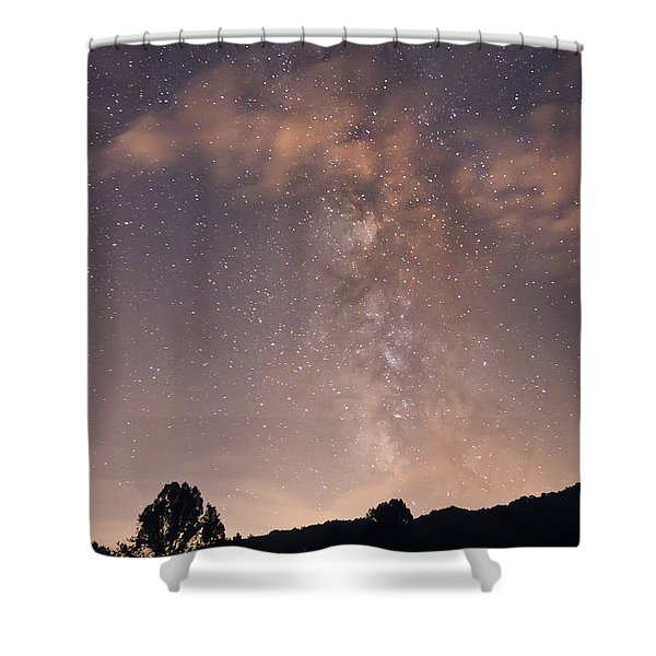 Clouds And Milky Way Shower Curtain