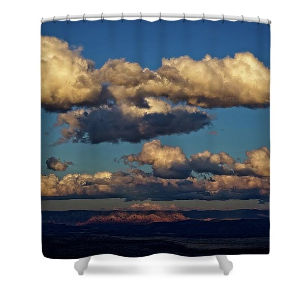 Clouds And Red Rocks Hdr Shower Curtain