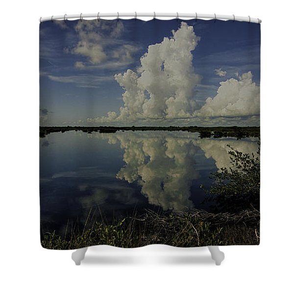 Clouds And Reflections Shower Curtain