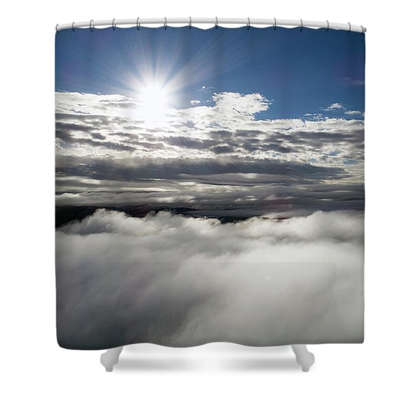 Clouds And Sun Shower Curtain