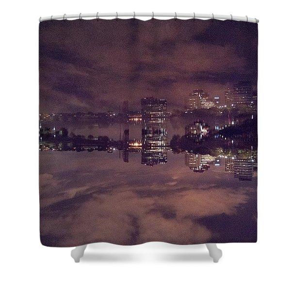 Clouds In The Passaic - Newark Nj Shower Curtain