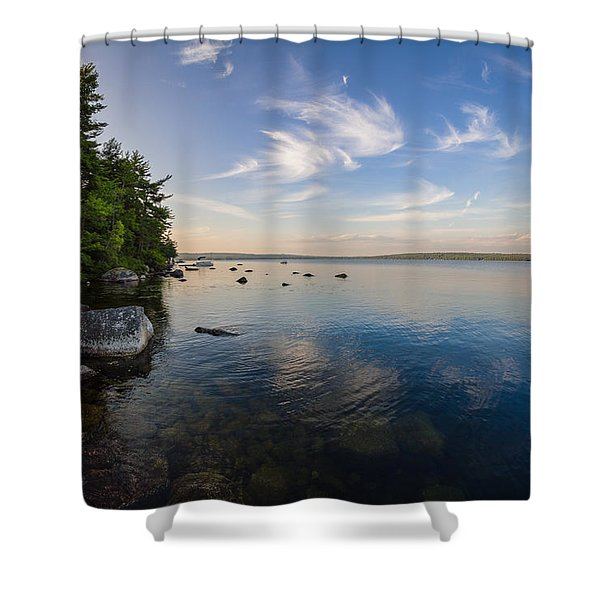 Clouds Over Branch Lake Shower Curtain
