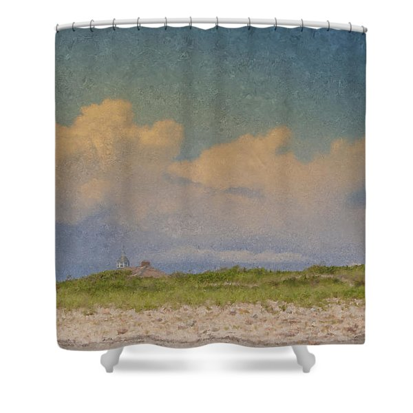 Clouds Over Goosewing Shower Curtain