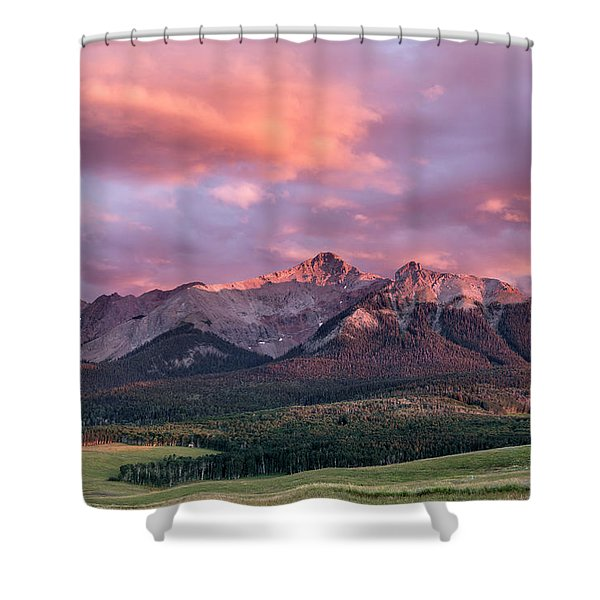 Clouds Over Hayden At Sunset Shower Curtain