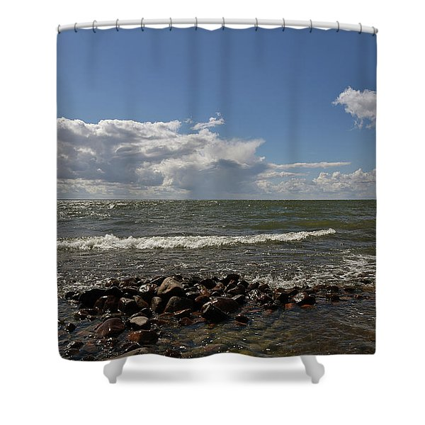 Clouds Over Sea Shower Curtain