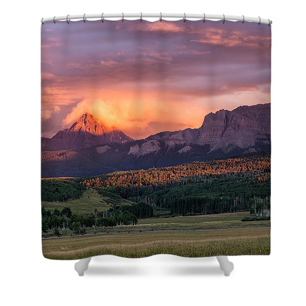 Clouds Over Sneffels At Sunset Shower Curtain