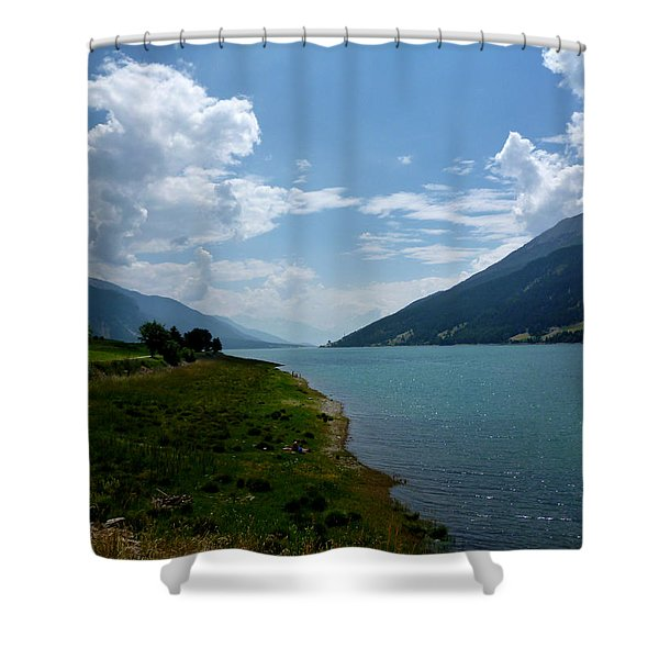 Clouds Over The Lake Shower Curtain