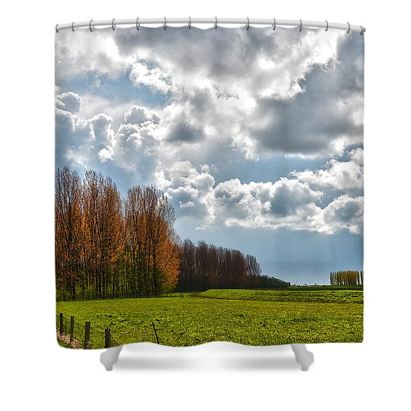 Clouds Over Voorne Shower Curtain
