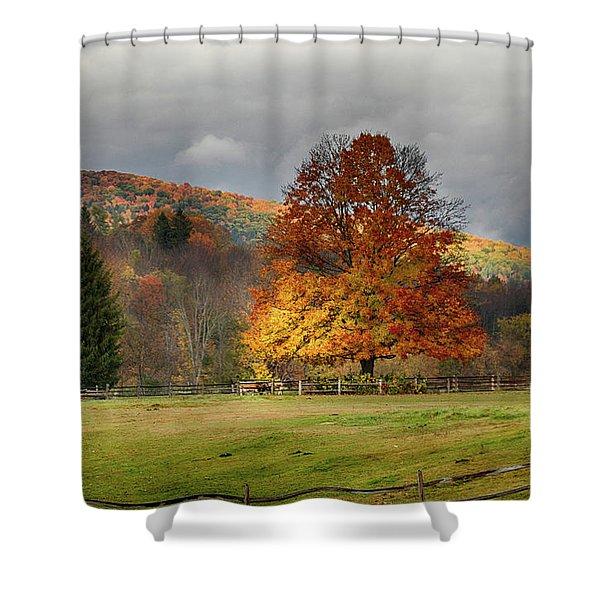 Clouds Part Over Marsh Billings-rockefeller Nhp Shower Curtain