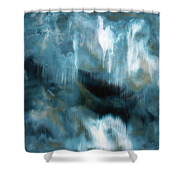Clouds Rolling In- Abstract Art By Linda Woods Shower Curtain