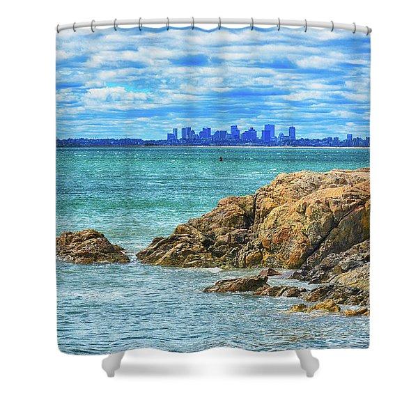 Cloudy Boston Shower Curtain