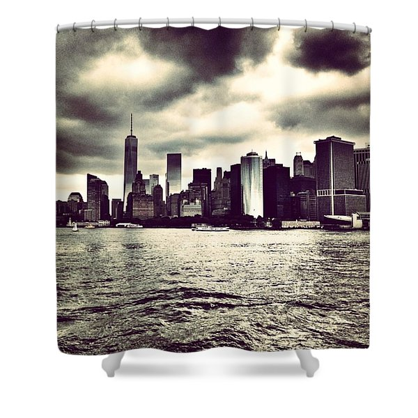 Cloudy Day In #nyc Shower Curtain