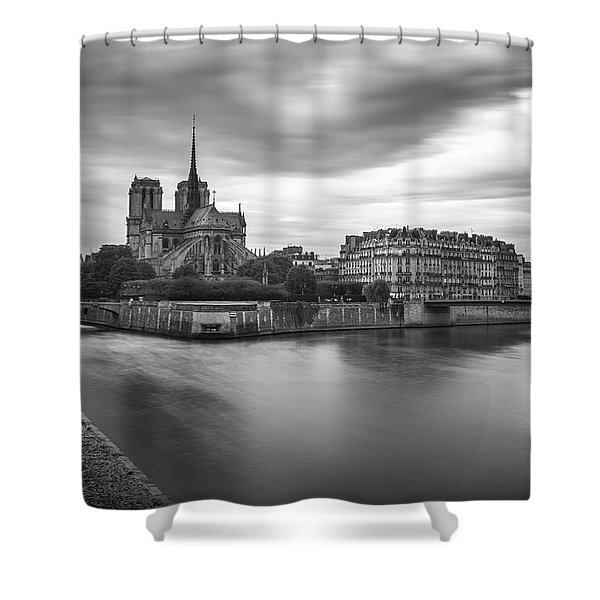 Cloudy Day On The Seine Shower Curtain