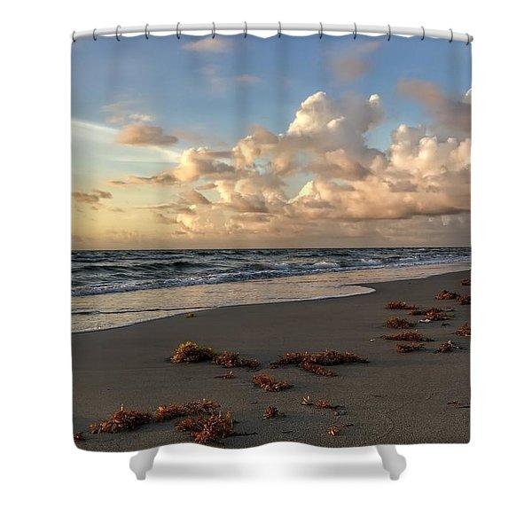 Cloudy Horizon  Shower Curtain