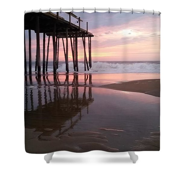Cloudy Morning Reflections Shower Curtain