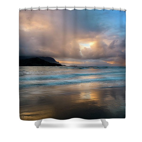 Cloudy Sunset At Hanalei Bay Shower Curtain