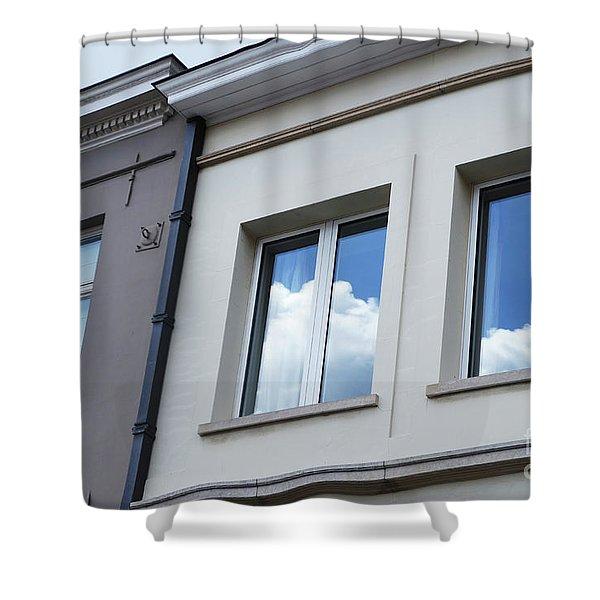 Cloudy Windows Shower Curtain