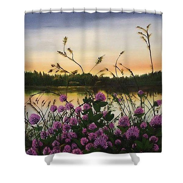 Clover Sunrise  Shower Curtain