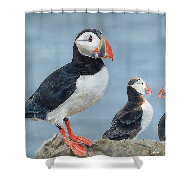 Clowns Of The Sea. Shower Curtain