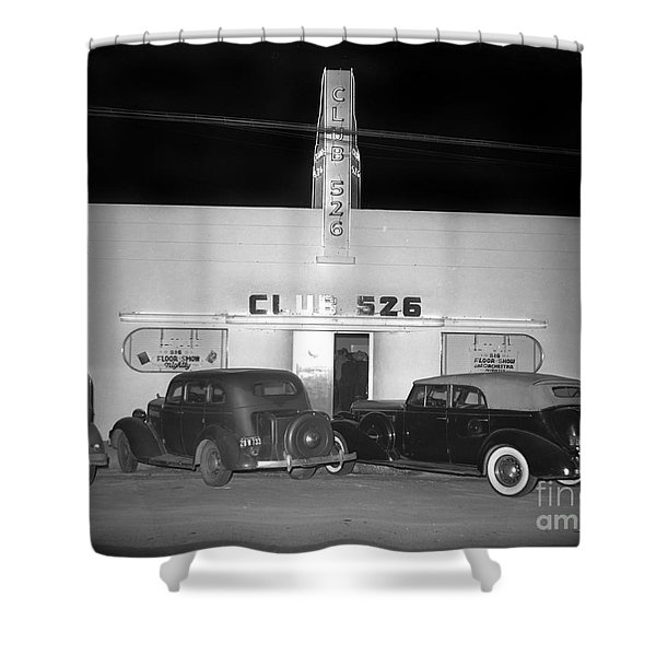 Club 526  Henry Franci, Salinas 1941 Shower Curtain