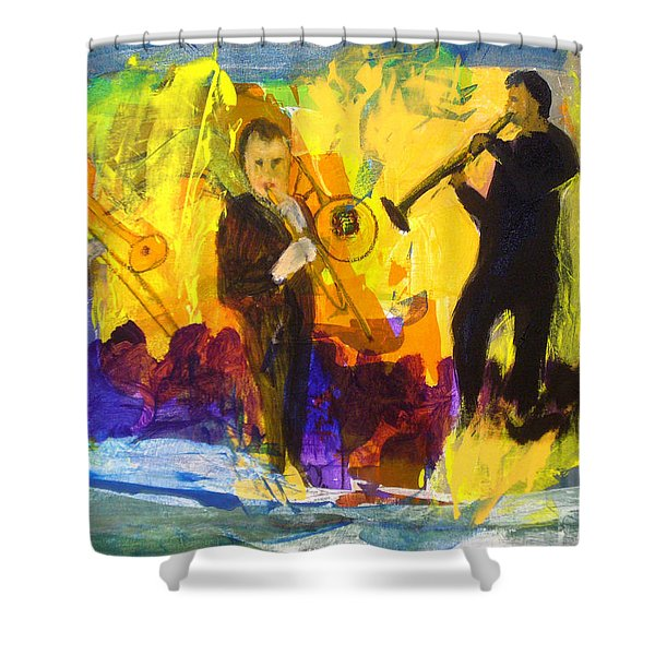 Shower Curtain featuring the painting Club Cuba by Keith Thue