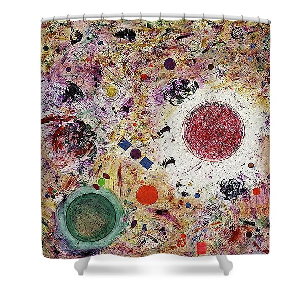 Shower Curtain featuring the painting Cluster Of Love by Michael Lucarelli