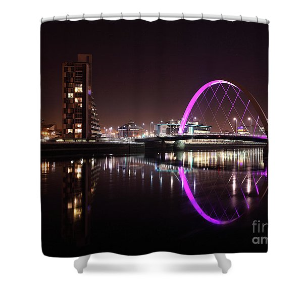 Clyde Arc Night Reflections Shower Curtain