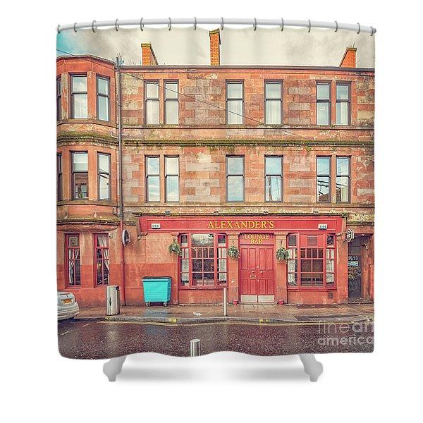 Clydebank Alexanders Bar Shower Curtain