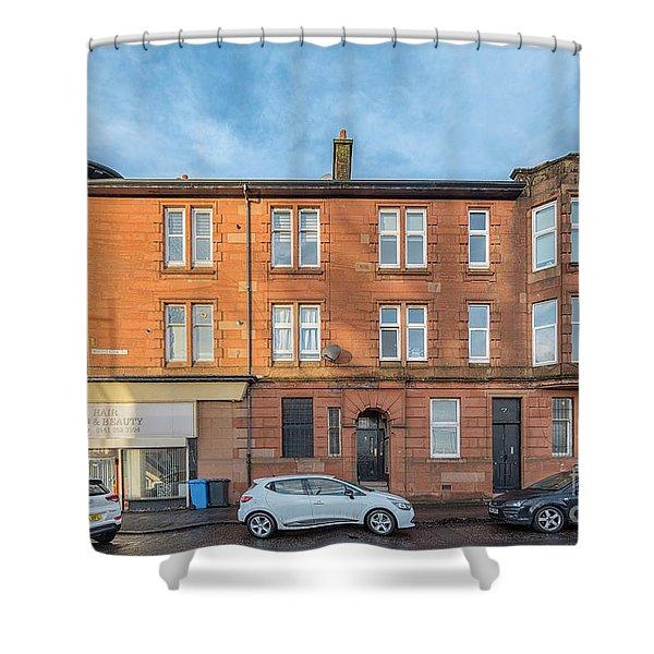 Clydebank Sandstone Tenement Shower Curtain