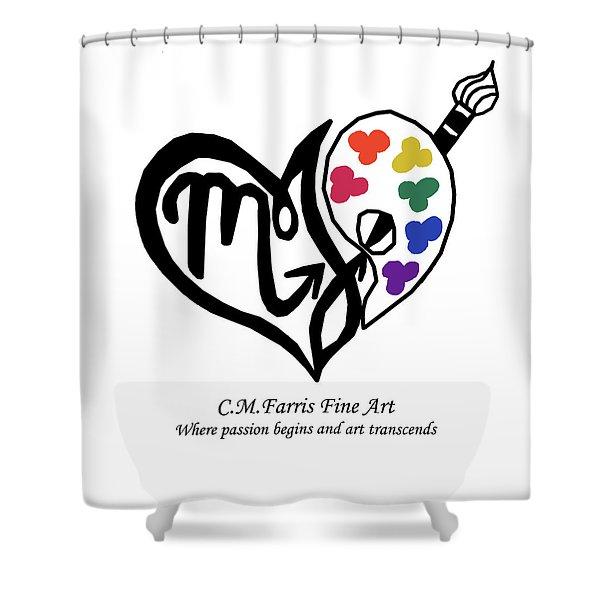 Cmfarris Logo Brand Shower Curtain