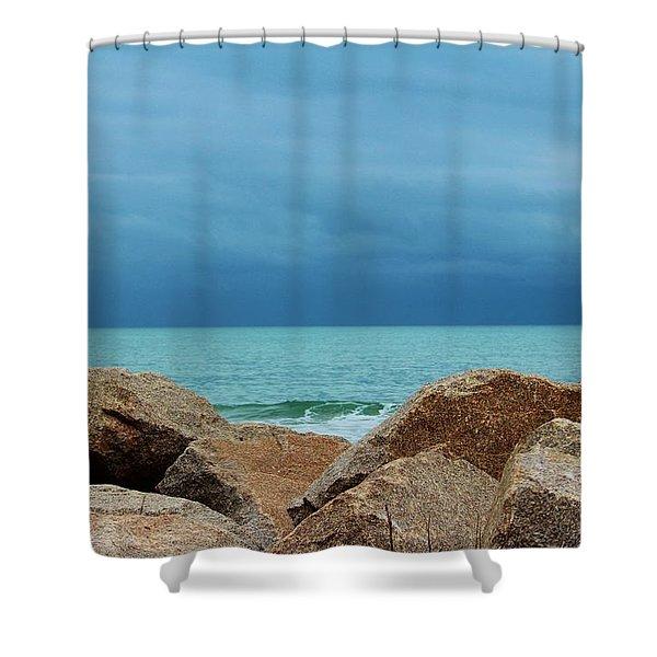 Coastal Blues Shower Curtain